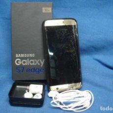 Segunda Mano: TELÉFONO MÓVIL SAMSUNG GALAXY S7 EDGE CON SU CAJA. Lote 283039258