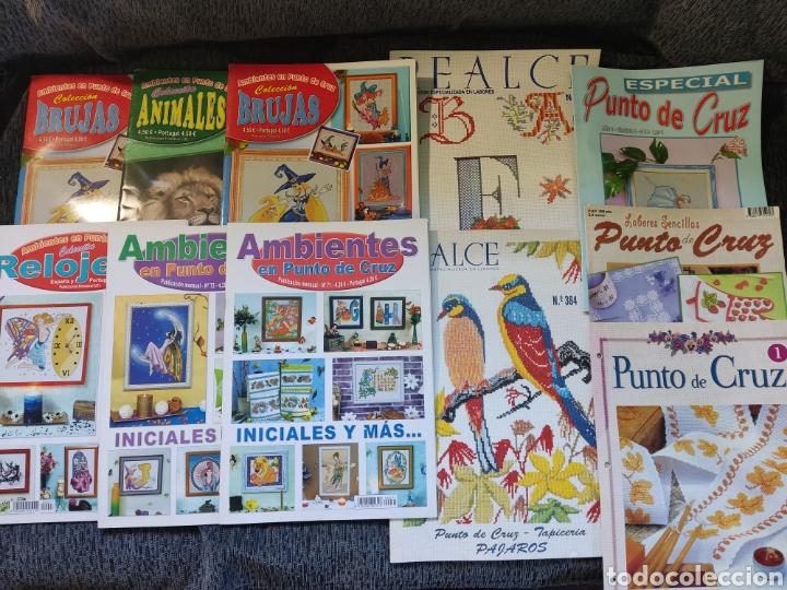 Segunda Mano: Lotes de Once libros punto de cruz - Foto 3 - 288507943