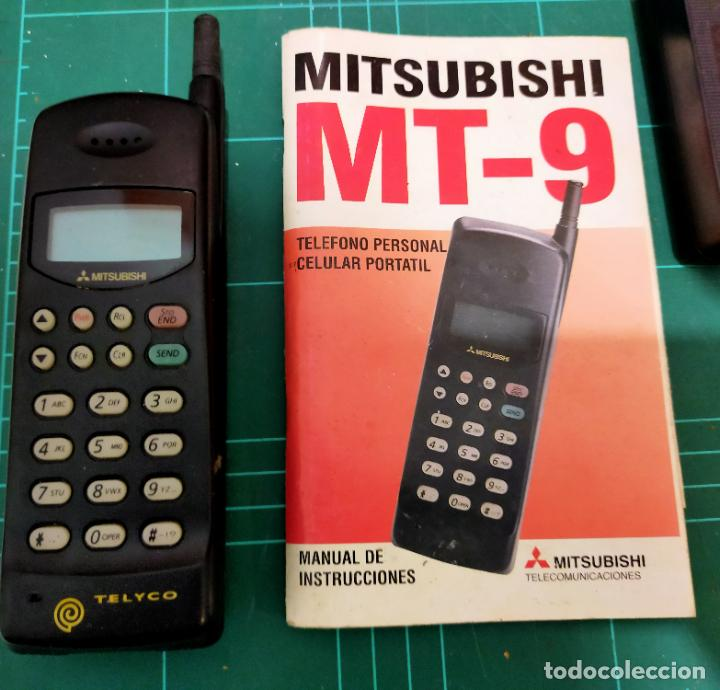 TELEFONO MOVIL MITSUBISHI MT- 9 CON BATERIAS CARGADOR Y MANUAL - VINTAGE - CARGADOR VA - BATERÍAS NO (Segunda Mano - Otros)