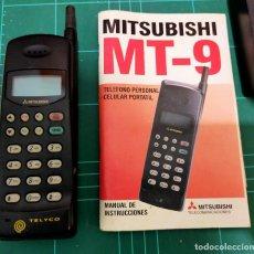 Segunda Mano: TELEFONO MOVIL MITSUBISHI MT- 9 CON BATERIAS CARGADOR Y MANUAL - VINTAGE - CARGADOR VA - BATERÍAS NO. Lote 288567593