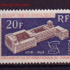 Sellos: TERRITORIOS ANTARTICOS FRANC. 32** - AÑO 1969 - 50º ANIVERSARIO DE LA ORG. INT. DEL TRABAJO. Lote 26118037