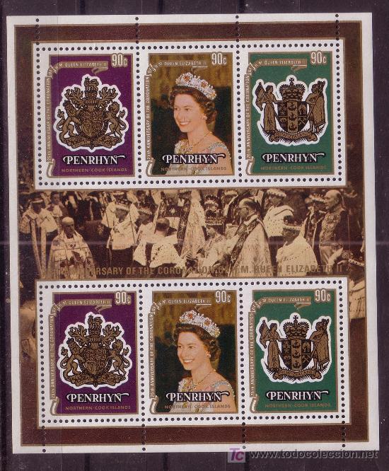 PENRHYN HB 11*** - AÑO 1978 - 25º ANIVERSARIO DE LA CORONACIÓN DE ISABEL II (Sellos - Extranjero - Oceanía - Otros paises)