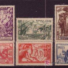 Sellos: OCEANIA FRANCESA 121/26*** AÑO 1937 - EXPOSICION INTERNACIONAL DE PARIS. Lote 25077371