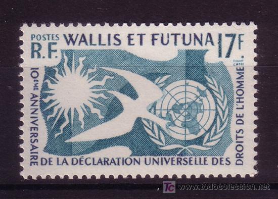 WALLIS Y FUTUNA 160*** - AÑO 1958 - 10º ANIV. DE LA DECLARACION UNIVERSAL DE LOS DERECHOS HUMANOS (Sellos - Extranjero - Oceanía - Otros paises)