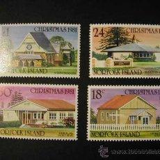 Sellos: NORFOLK ISLAS 1981 NAVIDAD - ARQUITECTURA 4 SELLOS - YVERT 263/266. Lote 8329260