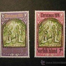 Sellos: NORFOLK ISLAS 1974 NAVIDAD 2 SELLOS - YVERT 154/155. Lote 8329397