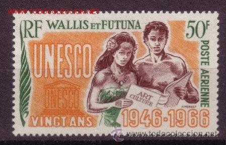 WALLIS Y FUTUNA AEREO 28*** - AÑO 1966 - 20º ANIVERSARIO DE LA UNESCO (Sellos - Extranjero - Oceanía - Otros paises)