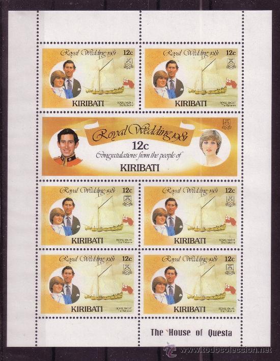 KIRIBATI 50/55 HB*** - AÑO 1981 - BODA DEL PRINCIPE CHARLES Y DIANA SPENCER - BARCOS (Sellos - Extranjero - Oceanía - Otros paises)