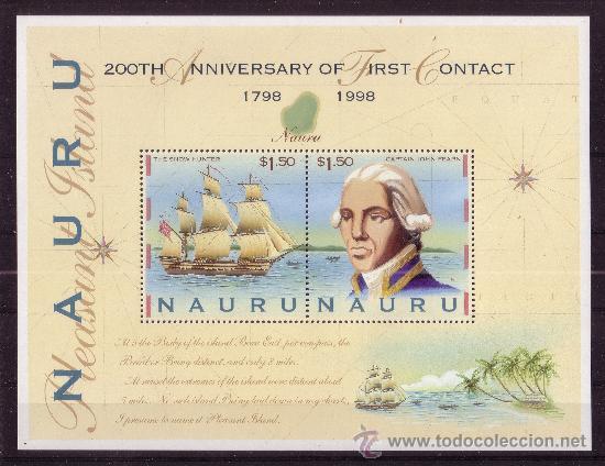 NAURU HB 23*** - AÑO 1998 - BICENTENARIO DEL DESCUBRIMIENTO DE LA ISLA - BARCOS (Sellos - Extranjero - Oceanía - Otros paises)