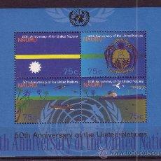 Sellos: NAURU HB 12*** - AÑO 1995 - 50º ANIVERSARIO DE NACIONES UNIDAS. Lote 25036722