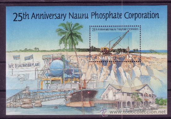 NAURU HB 13*** - AÑO 1995 - 25º ANIVERSARIO DE LA COMPAÑIA DE FOSFATOS DE NAURU (Sellos - Extranjero - Oceanía - Otros paises)