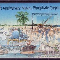 Sellos: NAURU HB 13*** - AÑO 1995 - 25º ANIVERSARIO DE LA COMPAÑIA DE FOSFATOS DE NAURU. Lote 24533612