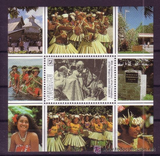 TUVALU HB 43*** - AÑO 1993 - 40º ANIVERSARIO DE LA CORONACION DE LA REINA ISABEL II (Sellos - Extranjero - Oceanía - Otros paises)