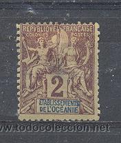 ETABLISSEMENTS FRANÇAIS DE L'OCÉANIE,1892- YVERT TELLIER 2 (Sellos - Extranjero - Oceanía - Otros paises)