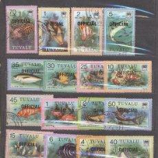 Sellos: TUVALU, ISLAS- SERIE PECES. Lote 25866157