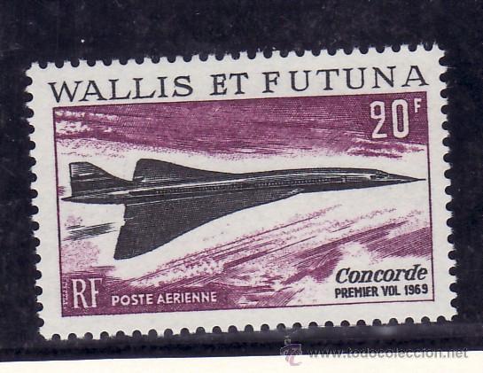 WALLIS ET FUTUNA A 32 SIN CHARNELA, AVION SUPERSONICO -CONCORDE- (Sellos - Extranjero - Oceanía - Otros paises)