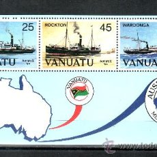 Sellos - vanuatu hb 6 sin charnela, barco, ausipex 84 exposicion filatelica internacional - 26263882
