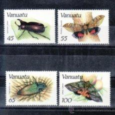 Sellos: VANUATU 784/7 SIN CHARNELA, FAUNA, INSECTOS,. Lote 23859647