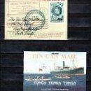 Sellos: TONGA HB 2/3 SIN CHARNELA, BARCO, MAPA, CENTENARIO DEL SERVICIO POSTAL EN BOTE . Lote 23904721