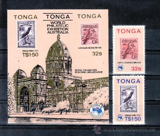 TONGA 582/3, HB 5 SIN CHARNELA, FAUNA, AUSIPEX 84 EXPOSICION FILATELICA INTERNACIONAL, (Sellos - Extranjero - Oceanía - Otros paises)