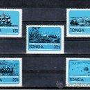 Sellos: TONGA 492/6 SIN CHARNELA, BARCO, 175º ANIVERSARIO DE LA CAPTURA DEL BARCO PIRATA -PORT AU PRINCE-. Lote 23905293