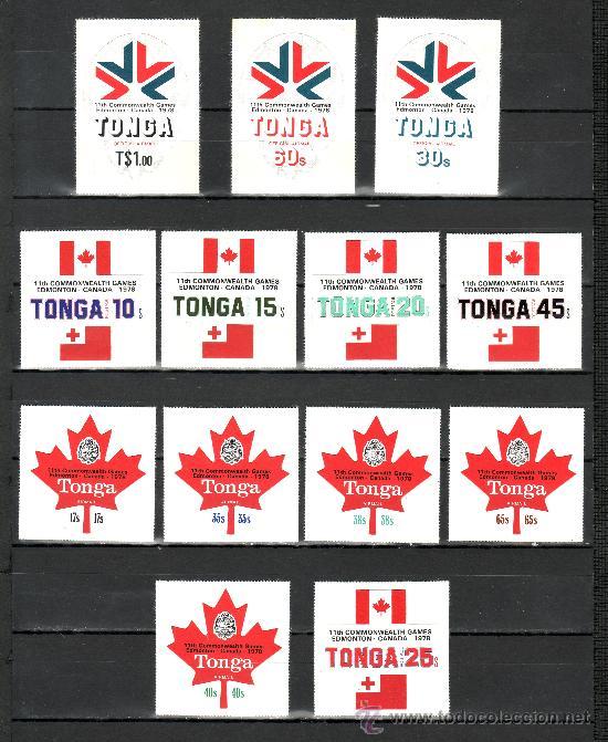 TONGA 414/8, A 234/8, S 126/8 SIN CHARNELA, DEPORTE, 11º JUEGOS DE LA COMMONWEALTH EN CANADA (Sellos - Extranjero - Oceanía - Otros paises)