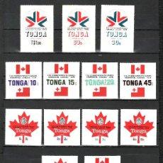 Sellos: TONGA 414/8, A 234/8, S 126/8 SIN CHARNELA, DEPORTE, 11º JUEGOS DE LA COMMONWEALTH EN CANADA. Lote 23905431