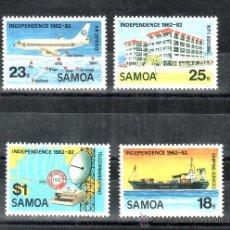 Sellos: SAMOA 513/6 SIN CHARNELA, AVION, BARCO, COMUNICACIONES, 20 ANIVº DE LA INDEPENDENCIA . Lote 24337958