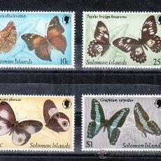 Sellos: SALOMON 443/6 SIN CHARNELA, FAUNA, MARIPOSAS, . Lote 24340949