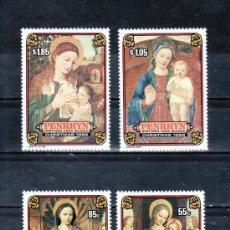 Sellos: PENRHYN 386/9 SIN CHARNELA, NAVIDAD, PINTURA, . Lote 24336860