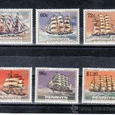 Stamps - penrhyn 284/9 sin charnela, barco de vela - 24336955