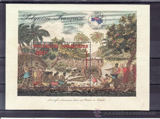 POLINESIA HB 10 SIN CHARNELA, AUSIPEX 84, EXPOSICION FILATELICA INTERNACIONAL (Sellos - Extranjero - Oceanía - Otros paises)
