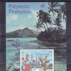 Sellos: POLINESIA HB 8 SIN CHARNELA, BANGKOK 1983, EXPOSICION FILATELICA INTERNACIONAL. Lote 24578610