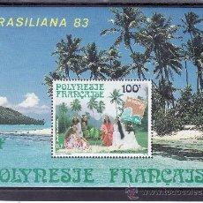 Sellos: POLINESIA HB 7 SIN CHARNELA, BRASILIANA 83, EXPOSICION FILATELICA INTERNACIONAL. Lote 24578622