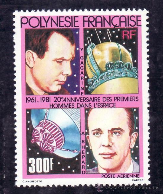 POLINESIA A 161 SIN CHARNELA, 20º ANIVERSARIO DE LOS PRIMEROS HOMBRES EN EL ESPACIO, (Sellos - Extranjero - Oceanía - Otros paises)