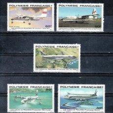 Sellos: POLINESIA A 148/52 SIN CHARNELA, AVION, LOS AVINES EN POLINESIA . Lote 24578775