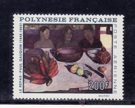 POLINESIA A 25 SIN CHARNELA, PINTURA DE PAUL GAUGUIN (Sellos - Extranjero - Oceanía - Otros paises)