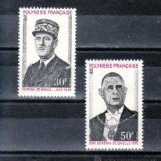 Sellos: POLINESIA 89/90 SIN CHARNELA, ANIVERSARIO DE LA MUERTE DEL GENERAL DE GAULLE, . Lote 24579322