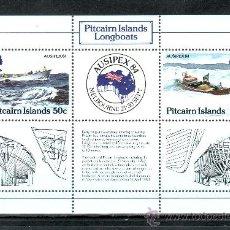 Sellos - pitcairn hb 7 sin charnela, barco, ausipex 84, exposicion filatelica internacional, - 24579530