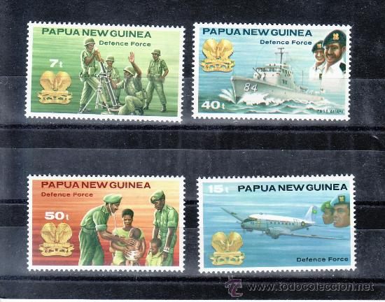 PAPUA Y NUEVA GUINEA 408/11 SIN CHARNELA, BARCO, FUERZA DE DEFENSA (Sellos - Extranjero - Oceanía - Otros paises)
