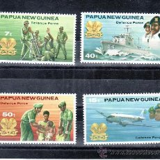 Sellos: PAPUA Y NUEVA GUINEA 408/11 SIN CHARNELA, BARCO, FUERZA DE DEFENSA . Lote 24439919