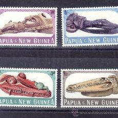 Sellos: PAPUA Y NUEVA GUINEA 73/6 SIN CHARNELA, BARCO, PROAS DE CANOAS. Lote 24439923