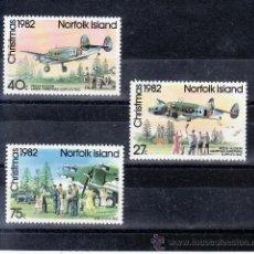 Sellos: NORFOLK 288/90 SIN CHARNELA, NAVIDAD, AVION, MISION DE LA REAL FUERZAS AEREAS DE NUEVA ZELANDA . Lote 24551502