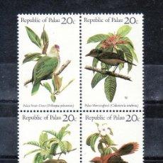 Sellos: PALAU 5/8 SIN CHARNELA, FAUNA, PAJAROS, AVES, FLORES, . Lote 24504619