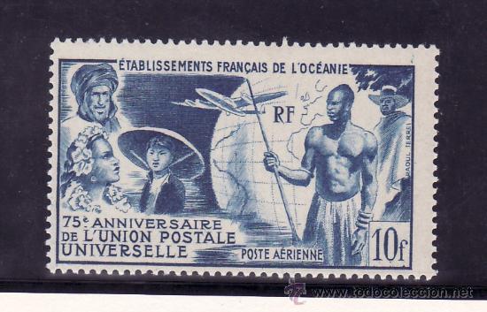 OCEANIA A 29 CON CHARNELA, U.P.U., AVION, 75º ANIVERSARIO DE LA UNION POSTAL UNIVERSAL (Sellos - Extranjero - Oceanía - Otros paises)