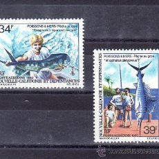 Sellos: NUEVA CALEDONIA A 202/3 SIN CHARNELA, FAUNA, PECES DEL MAR, . Lote 24549365