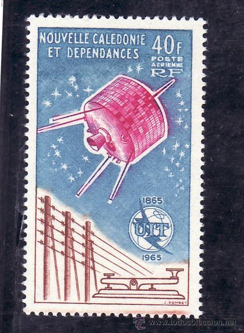 NUEVA CALEDONIA A 80 SIN CHARNELA, U.I.T., CENTENARIO UNION INTERNACIONAL DE LAS TELECOMUNICACIONES (Sellos - Extranjero - Oceanía - Otros paises)