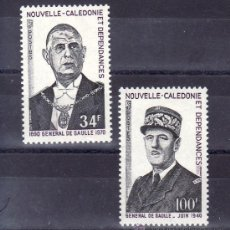 Sellos: NUEVA CALEDONIA 377/8 CON CHARNELA, ANIVERSARIO MUERTE DEL GENERAL DE GAULLE. Lote 24550426