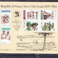 Briefmarken - nauru hb 5 sin charnela, 75º aniversario del scouts, - 24623897