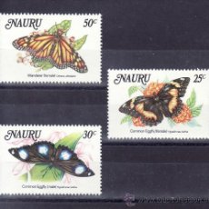 Sellos: NAURU 283/5 SIN CHARNELA, FAUNA, MARIPOSAS, . Lote 24623908